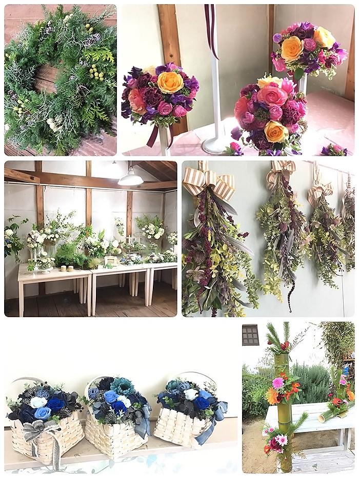 フラワーアレンジのベーシッククラス Flower Design Studio KOMUGI
