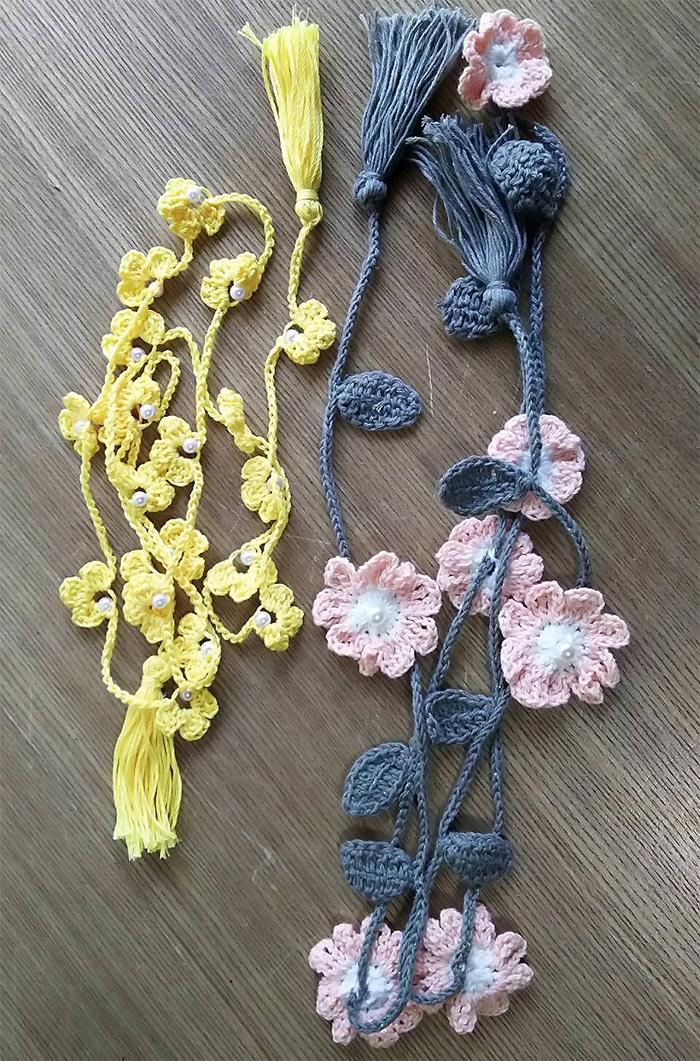 お花のラリエットを編みましょう