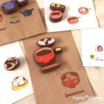 お汁粉はんこを彫って紙もの作り|手作り倶楽部